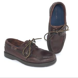 Rockport Boat Shoes Mahogany Leather Loafers